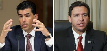 Jose Oliva and Ron DeSantis