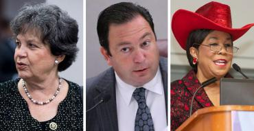Lois Frankel, Jeremy Ring and Frederica Wilson
