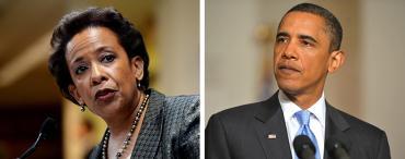 Loretta Lynch and Barack Obama