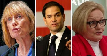 Maggie Hassan, Marco Rubio, and Claire McCaskill