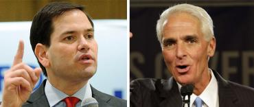 Marco Rubio and Charlie Crist