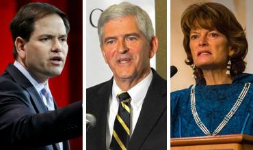 Marco Rubio, Dan Webster and Lisa Murkowski