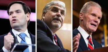Marco Rubio, Eric Hargan and Bill Nelson