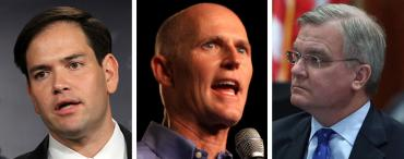 Marco Rubio, Rick Scott and John Armstrong