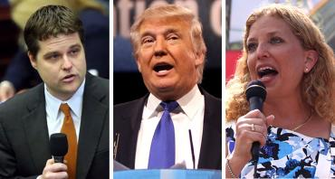 Matt Gaetz, Donald Trump and Debbie Wasserman Schultz