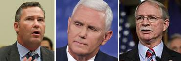 Mike Waltz, Mike Pence and John Rutherford