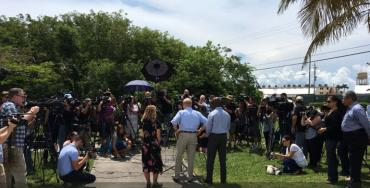 The media circus in Homestead