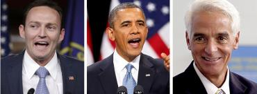 Patrick Murphy, Barack Obama and Charlie Crist