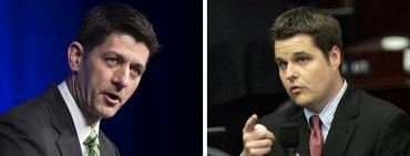Paul Ryan and Matt Gaetz