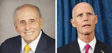 Coral Gables Mayor Raul Valdes-Fauli and Gov. Rick Scott