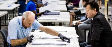 Lawyer observes a ballot recount in Riviera Beach
