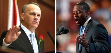 Richard Corcoran and Andrew Gillum