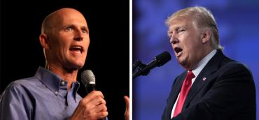Rick Scott and Donald Trump