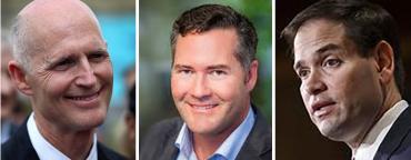 Rick Scott, Mike Waltz and Marco Rubio
