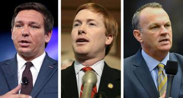 Ron DeSantis, Adam Putnam and Richard Corcoran
