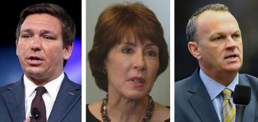 Ron DeSantis, Gwen Graham and Richard Corcoran