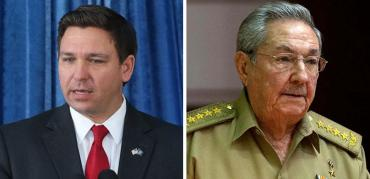 Ron DeSantis and Raul Castro