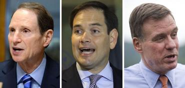 Ron Wyden, Marco Rubio and Mark Warner
