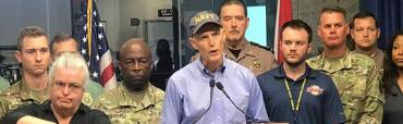 Rick Scott at the morning briefing