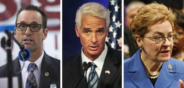Steve Knight ,Charlie Crist and Marcy Kaptur