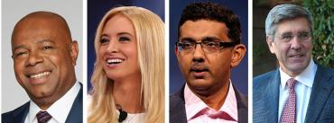 David Webb, Kayleigh McEnany, Dinesh D'Souza and Stephen Moore