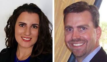 Democrat Tiffany Parisi and Republican Toby Overdorf