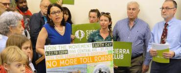 Sierra Club protests Monday