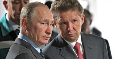 Vladimir Putin and Gazprom CEO Alexei Miller