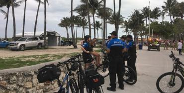 An African-American woman arrested at Urban Beach Week, Miami Beach
