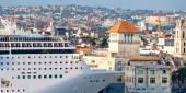 Cruise ship docked at Port of Old Havana