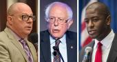 David Richardso, Bernie Sanders and Andrew Gillum