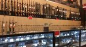 Gun walls of a Dick's Field & Stream store