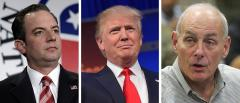 Reince Priebus, Donald Trump and John Kelly