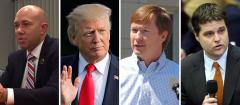 Brian Mast, Donald Trump, Adam Putnam and Matt Gaetz