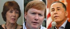 Gwen Graham, Adam Putnam and Philip Levine