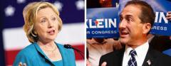 Hillary Clinton and Ron Klein