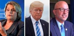 Ileana Ros-Lehtinen, Donald Trump, and Ted Deutch