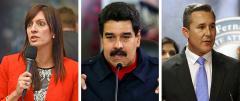 Jeanette Nunez, Nicolas Maduro and Rene Garcia