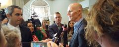 Governor answers press questions Wednesday afternoon