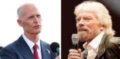 Rick Scott and Richard Branson