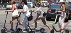 E-scooter riders in Los Angeles