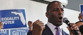 Andrew Gillum on the campaign trail