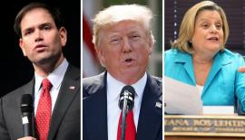 Marco Rubio, Donald Trump and Ileana Ros-Lehtinen