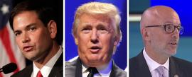 Marco Rubio, Donald Trump and Ted Deutch