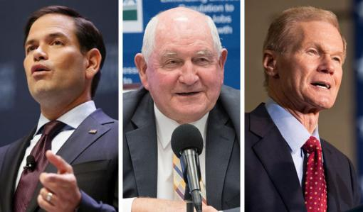 Marco Rubio, Sonny Perdue and Bill Nelson