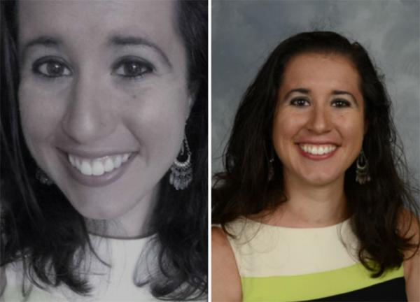 """From the now-deleted Twitter account of """"Tiana Dalichov,"""" left; and school staff photo of Dayanna Volitich, right"""